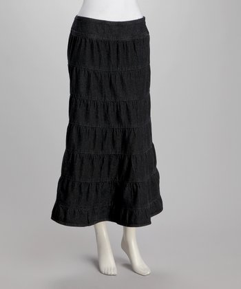 Black Peasant Skirt - Women