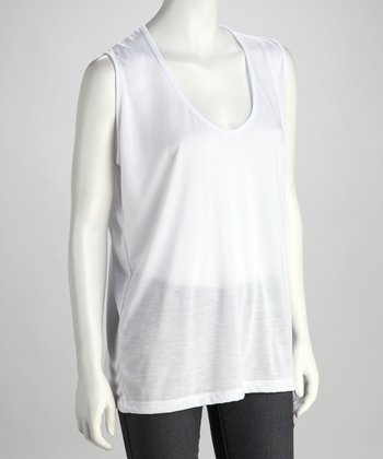 Lizzie Parker Blue Label White Plus-Size Sleeveless Top