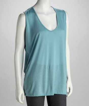 Lizzie Parker Blue Label Aqua Sky Plus-Size Sleeveless Top