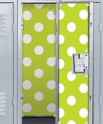 Lime & White Polka Dot Locker Wallpaper Set