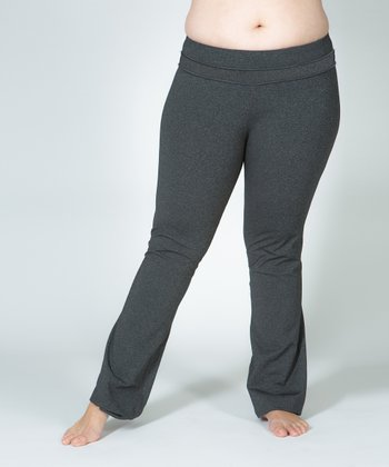 Gray Plus-Size Yoga Pants