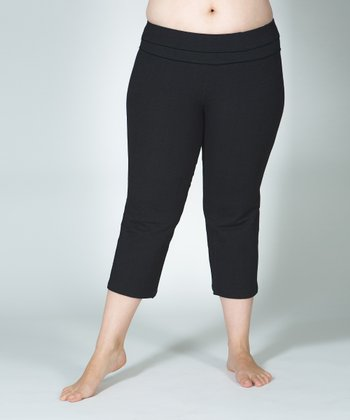 Lola Getts Black Plus-Size Capri Pants