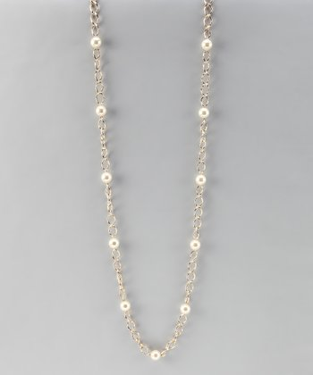 Gold & Pearl Link Necklace