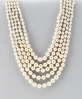 Antique Gold & Pearl Multi-Strand Necklace