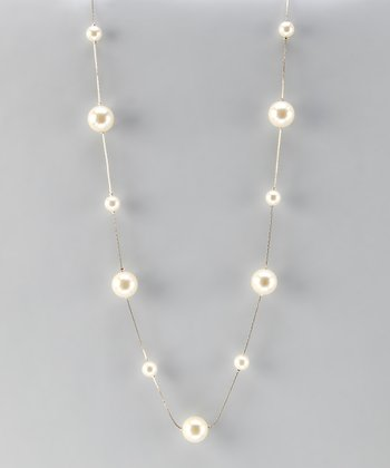 Gold & Pearl Floating Necklace