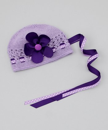 Purple Flower Beanie