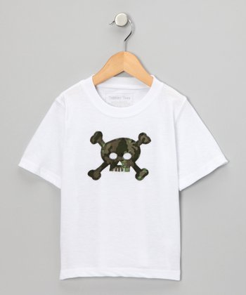 White Camouflage Skull Tee - Infant, Toddler & Boys