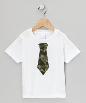 White Camouflage Tie Tee - Infant, Toddler & Boys
