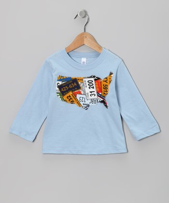 Light Blue USA Tee - Infant, Toddler & Kids