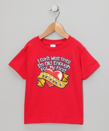 Red 'My First Tattoo' Tee - Toddler & Kids