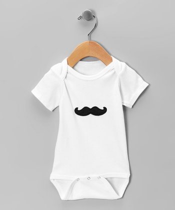 White Mustache Bodysuit - Infant