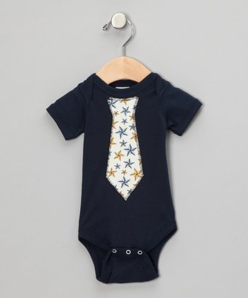 Blue Star Tie Bodysuit - Infant