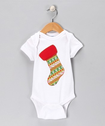 White Stocking Bodysuit - Infant