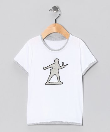 White & Gray Toy Soldier Tee - Toddler