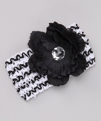 Zebra Flower Headband