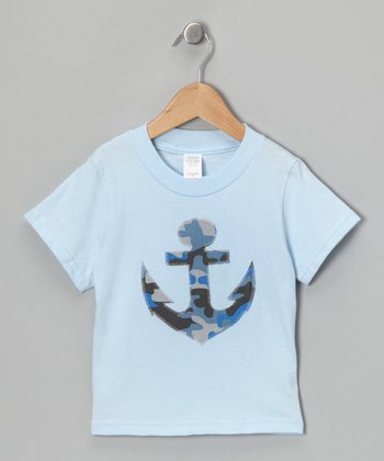 Blue Anchor Tee - Toddler & Boys