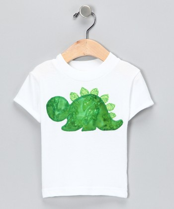 White Dinosaur Tee - Infant, Toddler & Kids