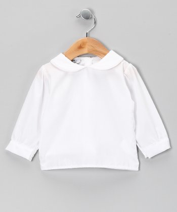 White Collar Top - Infant, Toddler & Kids