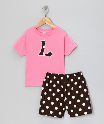 Bubble Gum Initial Tee & Shorts - Infant & Toddler