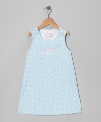 Blue Polka Dot Monogram Jumper - Infant & Toddler