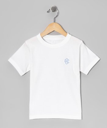 White Monogram Tee - Infant & Kids