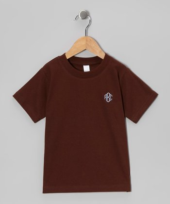 Chocolate & Blue Monogram Tee - Infant, Toddler & Boys