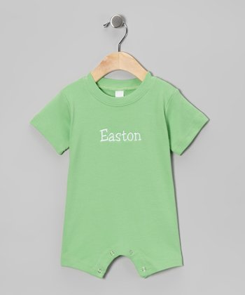 Lime Personalized Romper - Infant