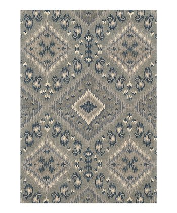 Gray & Denim Leyda Wool Rug