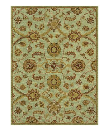 Light Green Maxwell Wool Rug