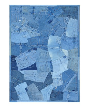 Denim Shorts Runway Rug -