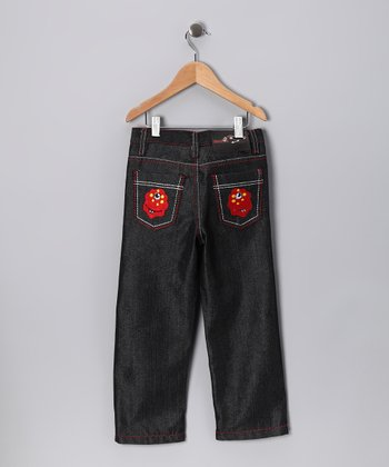 Dark Denim Cyclops Straight-Leg Jeans - Toddler & Boys