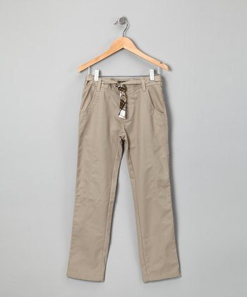 Eddie Bauer Khaki & Plaid Pants - Girls