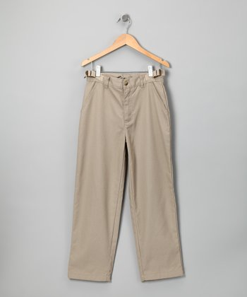 Khaki Adjustable Pants - Boys