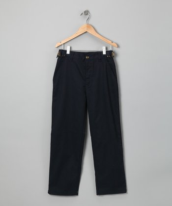Navy Adjustable Pants - Boys