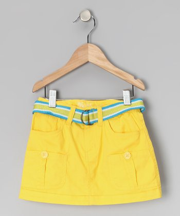 Yellow Skirt & Belt - Girls
