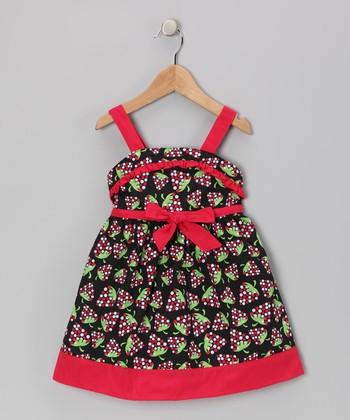 Red Strawberry Dress - Girls