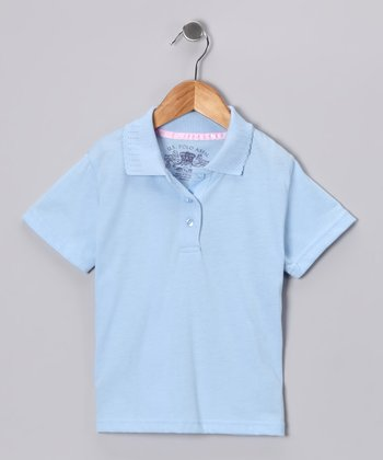 U.S. Polo Assn. Blue Scallop Polo - Girls