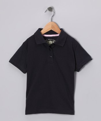 U.S. Polo Assn. Navy Scallop Polo - Girls