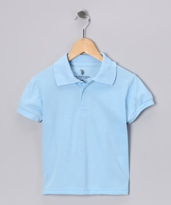 Light Blue Banded Polo - Boys