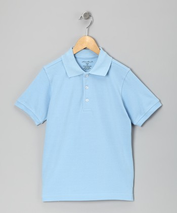 Longstreet Blue Woven Polo - Boys