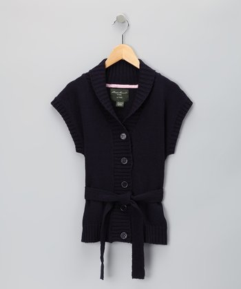 Eddie Bauer Navy Sweater - Girls