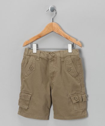 Dark Khaki American Hawk Shorts - Toddler