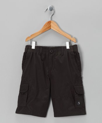 Charcoal American Hawk Shorts - Boys