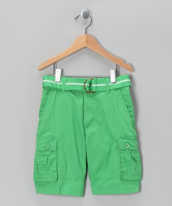 Kelly Green American Hawk Shorts - Boys