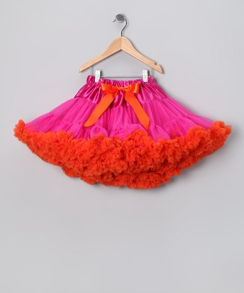 Hot Pink & Orange Pettiskirt - Infant, Toddler & Girls
