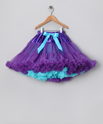 Purple & Turquoise Pettiskirt - Infant