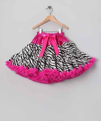 Hot Pink Zebra Pettiskirt