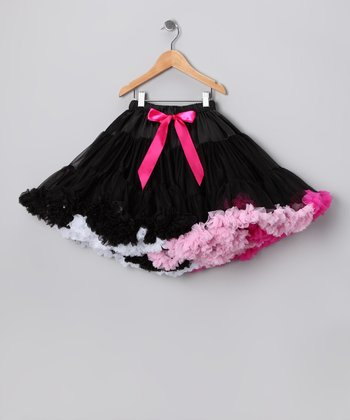 Black & Pink Pettiskirt - Infant, Toddler & Girls