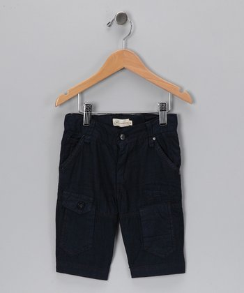 Navy Cargo Shorts - Toddler & Boys