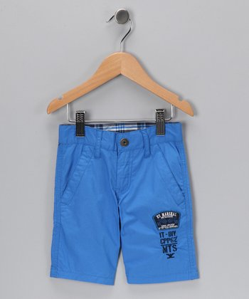 Light Blue Pilot Shorts - Toddler & Boys